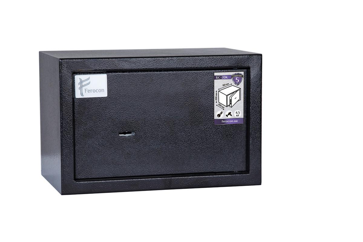 Сейф БС-20К.9005 (ШхВхГ-310х200х200 мм.) для офиса и дома
