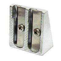 Точилка металлическая, двойная 8343
