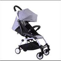 Детская коляска YOYA 175 А+ Gray, 3 ярусный капор легкая, складная, компактная Йойа серая