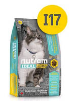 I17 Nutram Ideal 1,8кг-корм для здоровья кожи и шерсти кошек живущих в помещениях