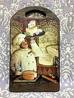 "Подарочная разделочная доска """"Шеф повар Рикардо"" (ручная работа), фото 1"