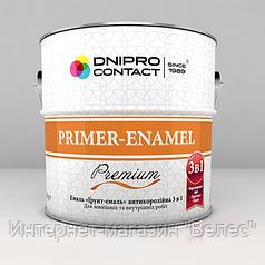 """Эмаль """"Грунт-эмаль"""" 3 в 1 Днепр-контакт Светло-серая 0,9 кг"""