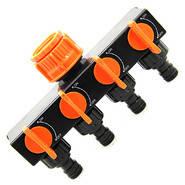 """Планка-адаптер сзапорными кранами с внутренней резьбой 1"""" и редуктором 1""""-3/4"""" STANDART Aquapulse"""