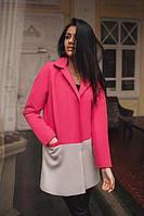 Женское кашемировое двухцветное пальто P6160
