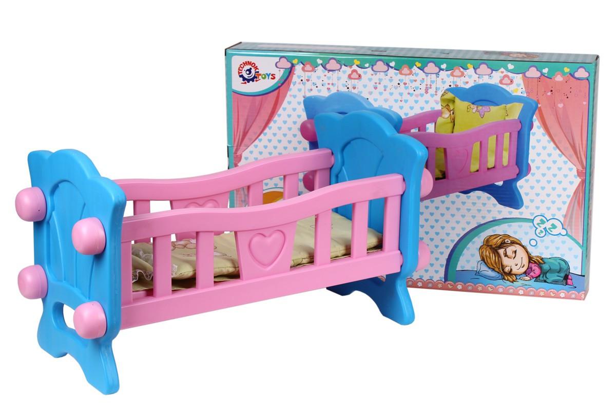 Кроватка  для кукол, в кор. 60*38*7см, ТМ Технок, Украина (4шт)(4173) - ИГРОДОМ в Днепре