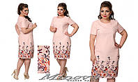 Льняное платье большого размера размер 50-56