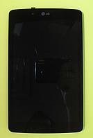 Оригинальный дисплей (модуль) + тачскрин (сенсор) с рамкой для LG G Pad 7.0 V400 | V410 (черный цвет)