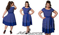 Летнее женское платье тонкая стрейчевая вискоза   размер 50-56