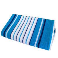 Махровая простыня SoundSleep голубая 190х220 см