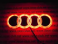Эмблема ауди, светящаяся задняя эмблема Audi 4D