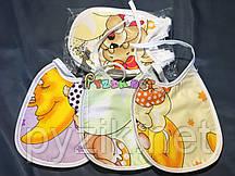 Слюнявчик нагрудник для ребенка на завязочке упаковка (10 штук)