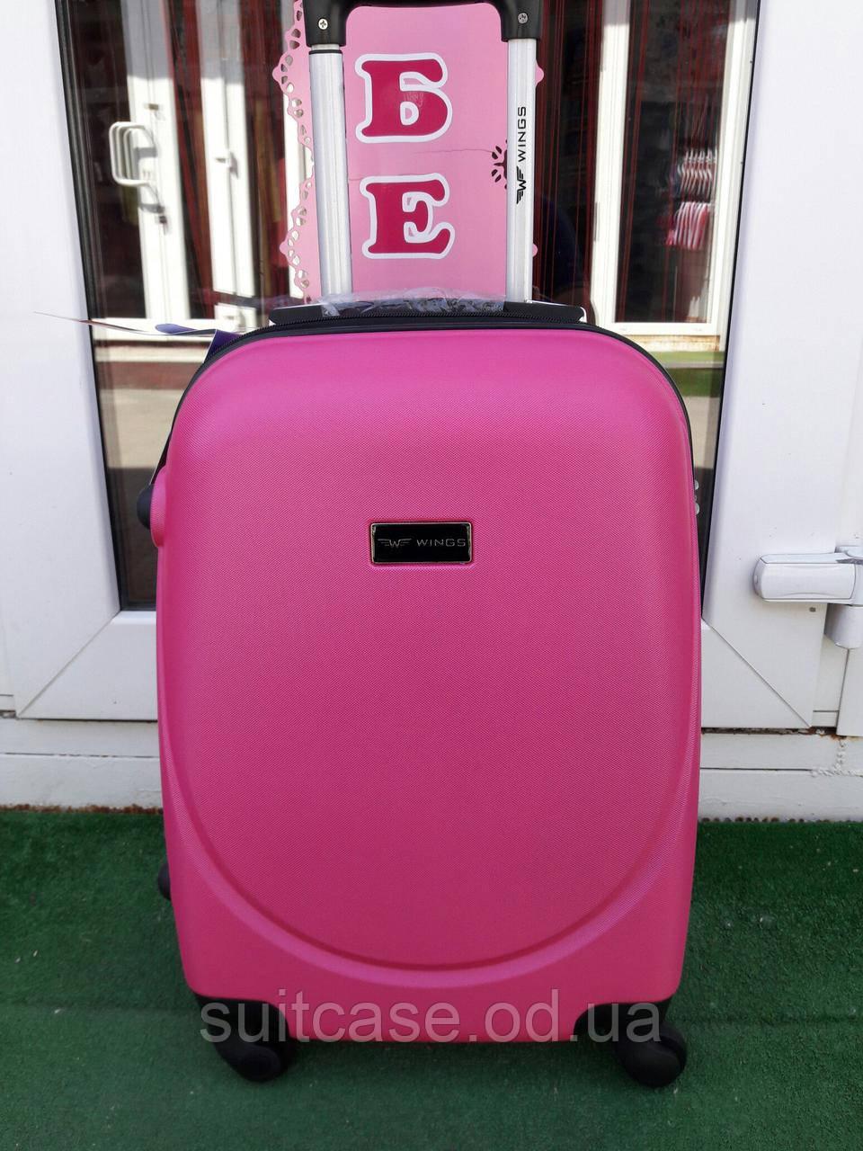 Малый пластиковый чемодан на четырёх колёсах WINGS - Интернет-магазин
