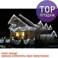 Новогодняя светодиодная гирлянда 300 диодов белая / Гирлянда для елки / Гирлянда нить для наружного оформления