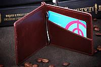 Зажим для денег, 1002-2 бордовый, фото 1