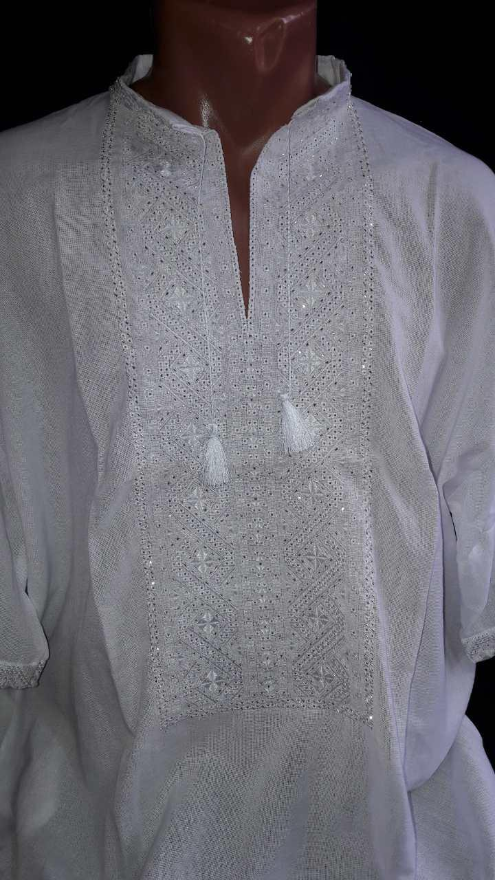 Мужская вышиванка ручная работа (вышитая бисером)