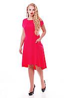 Платье   Милана короткий рукав малиновое, фото 1