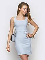Красивое аккуратное женское платье из стрейч-джинса Modniy Oazis серый 90238/3