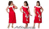 Платье льняное  большого размер размер 52-58