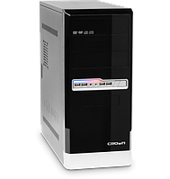 Корпус Miditower CROWN CMС-32 black/silver ATX без БП
