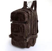 Рюкзак кожаный TIDING BAG 7048C темно-коричневый
