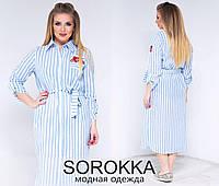 Легкое платье-рубашка с принтом в расцветках БАТ 710 (686)