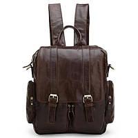 Рюкзак кожаный TIDING BAG 7123C коричневый