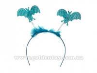 Обруч с летающими мышами, синий, в пак. (630 шт./ящ.)(6098-230blue)