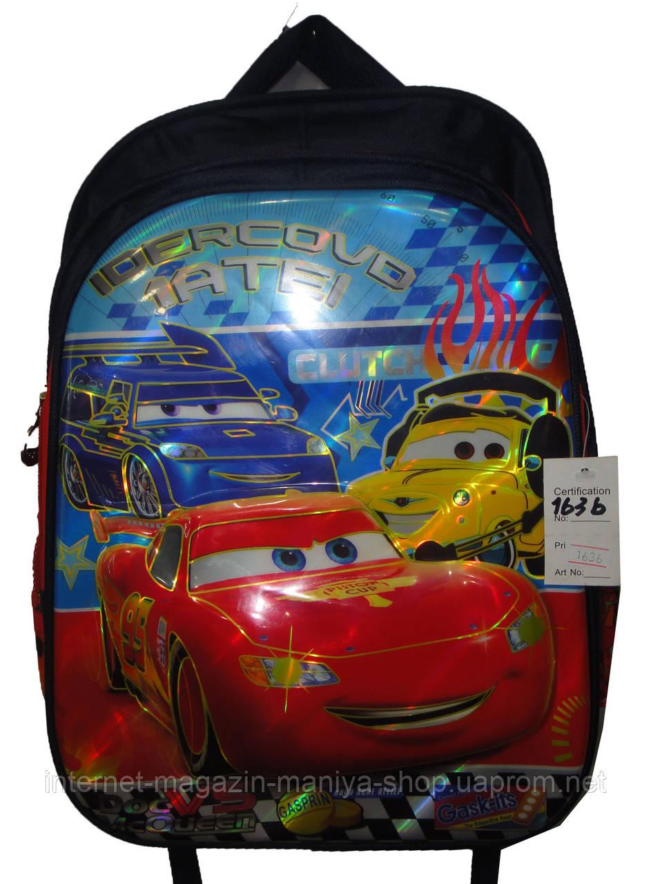 Рюкзак для мальчика школьный 1636 машины