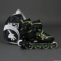 Ролики Green - Best Rollers /размер 35-38/, колёса PU, без света, d=7см, сумка (6шт)(6006/M/Green(35-38))