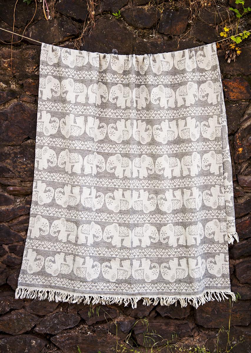 Полотенце пляжное Fil 95х175 серый Barine