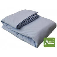 Комплект одеяло+подушка, 110*140см, шерсть, хлопок, голубой, в сумке 60*40см, ТМ Homefort(820594)
