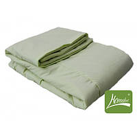 Комплект одеяло+подушка, 90*120см, шерсть, хлопок, салатовый, в сумке 50*30см, ТМ Homefort(2050166)