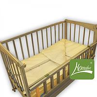 Комплект постельного белья в дет. кроватку, ранфос-бежевый, в сумке 39*39см, ТМ Homefort(2050003)