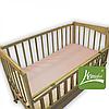 Комплект постельного белья в дет. кроватку, ранфос-розовый, в сумке 39*39см, ТМ Homefort(2050005)