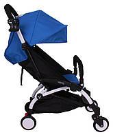 Детская коляска YOYA 175 Blue, легкая, складная, компактная коляска baby yoya (Йойа) синяя