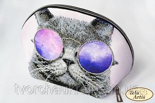 Косметичка под вышивку бисером Космос в очках