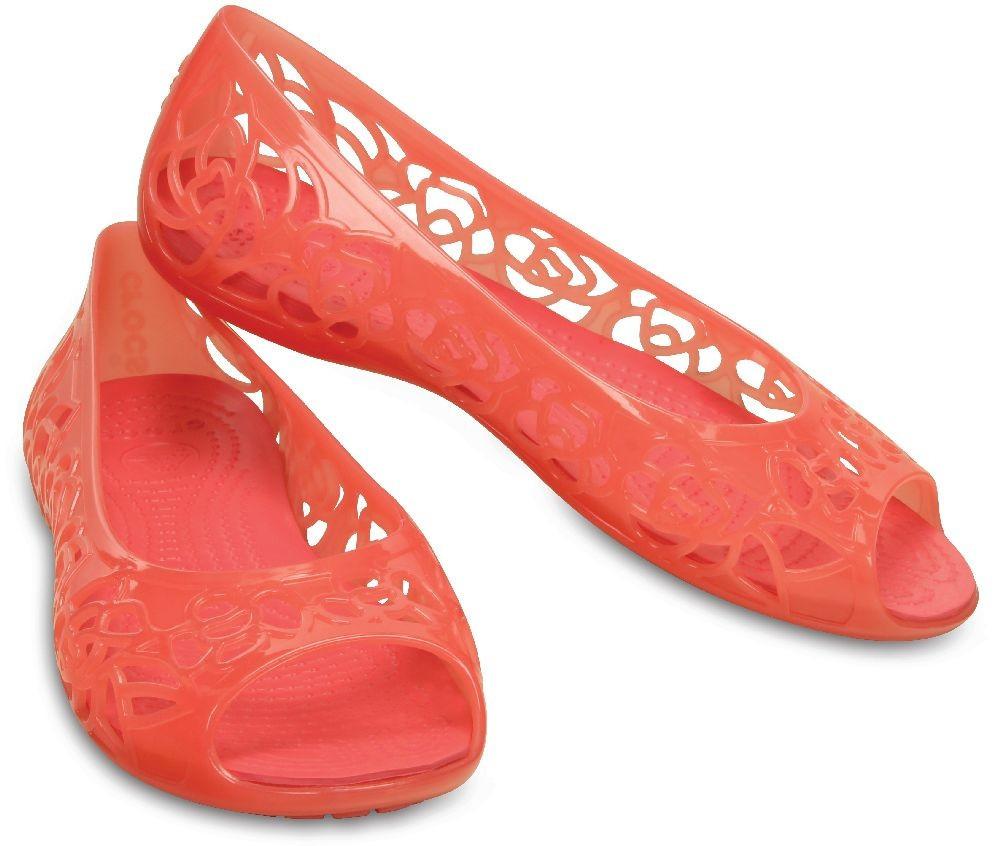 8756f2929b13 Балетки для девочки сандалии Кроксы Изабелла оригинал / Crocs Girls'  Isabella Jelly Flat Juniors