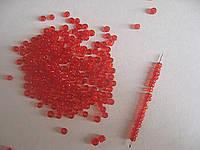 Бисер 12 (COLOR:5 красный) 50 грамм