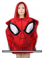 Детское пончо полотенце SPIDER-MAN, 55*110 СМ.