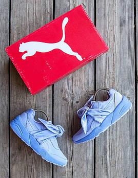 Женские кроссовки Puma Fenty x Rihanna Bow Sneaker 🔥  (Пума Фенти Рианна) голубые
