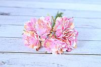 """Декоративные тканевые цветы """"Василек"""", 3,5 - 4 см, 60 шт/уп, розового цвета оптом"""