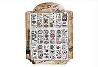"""Закладка картонная """"Надписи"""", цена за планшет в пл.18шт. по 8 закладок(7006)"""