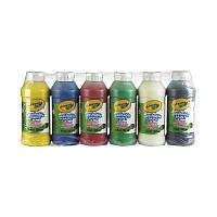 Краски смываемые, ЦЕНА ЗА УП., в уп. 6 цветов, 237мл, ТМ Crayola(3926)