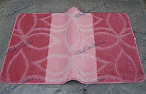 Набор для ванной 60х100+60х50см. Лепестки розовый