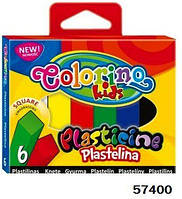 Пластилин квадратный, 6 цветов, ТМ Colorino(57400)