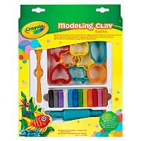 Пластилин, формочками и инструментом; 12 цветов, 4+, в кор. 30*24*3см, ТМ Crayola(57-0320)