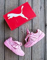 Женские кроссовки Puma Fenty x Rihanna Bow Sneaker 🔥  (Пума Фенти Рианна) розовые