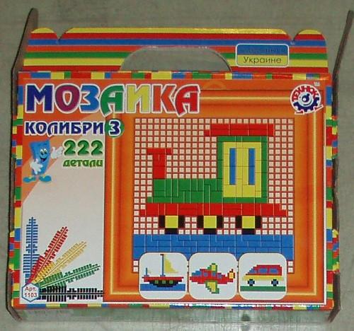 "Мозаика ""Колібрі 3 Технок"",  в кор.22*20*5 см, ТМ Технок, Україна (12шт)(1103) - ИГРОДОМ в Днепре"
