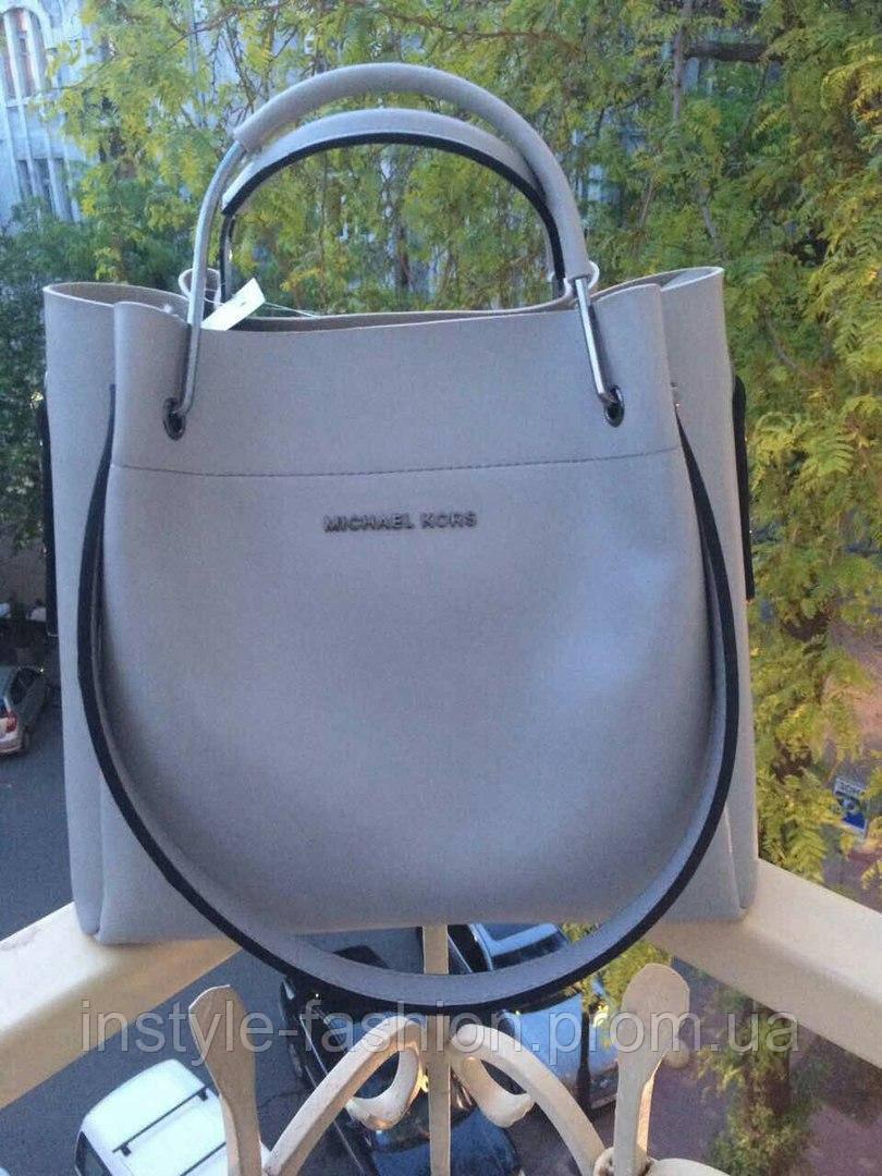 Модная сумка Michael kors MICHAEL KORS копия цвет голубой фурнитура серебро