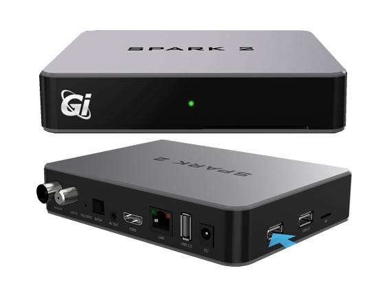 Супутниковий HD ресивер GI HD Spark 2 Combo